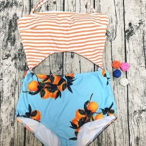 Other - ☀️ 5 🌟 rated! Floral & stripe suit